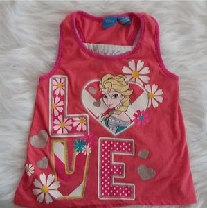 Disney Elsa Sleeveless Pink Tank Top